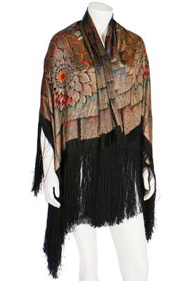 Lot 36 - A Liberty lamé shawl, 1920s