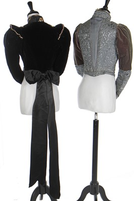 Lot 14 - A group of evening and mourning fashions, mainly 1890s-1900