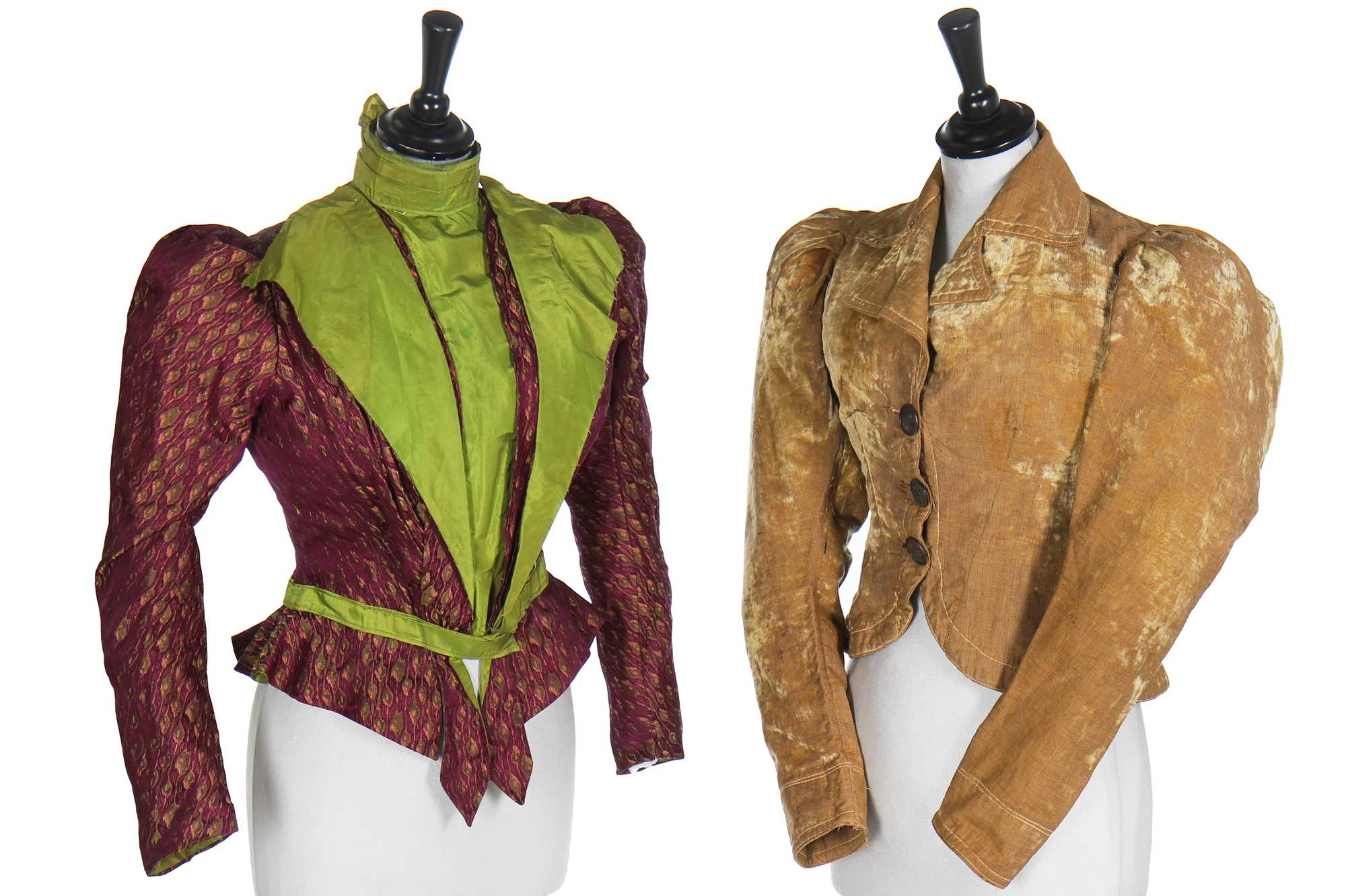 Lot 13 - Seven autumnal and winter bodices, mainly 1890s
