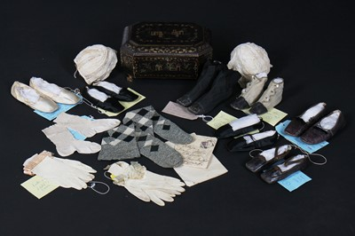 Lot 347 - A collection of accessories belonging to Queen Victoria's children assembled by the Royal nanny Mrs Thurston, mainly 1840s-50s