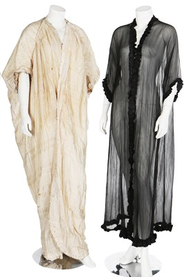 Lot 29 - Five full-length robes of draped cocoon silhouette, circa 1912