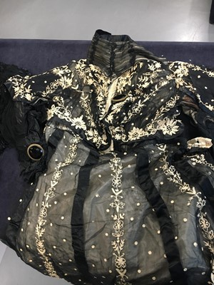 Lot 25 - Three black gowns and four evening bodices, 1910-1912
