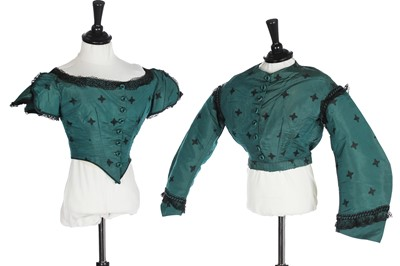 Lot 5 - Eight silk bodices, mainly 1860s