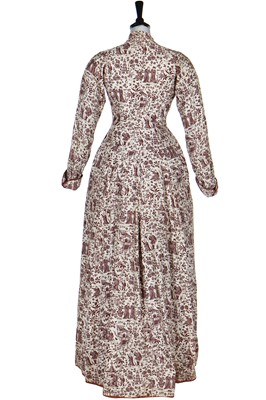 Lot 6 - A Japonisme printed cotton undress robe, late 1870s-early 1880s