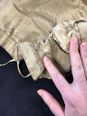 Lot 2 - An ecru slubbed silk spencer, late 1820s