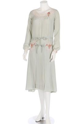 Lot 58 - A rare Boué Sœurs couture silk day dress, 'Perlette', Spring-Summer 1930