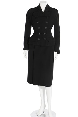 Lot 83 - Two Schiaparelli finely tailored wool suits, circa 1949-51