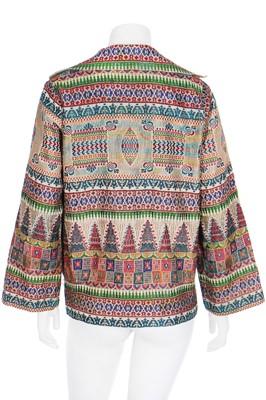 Lot 45 - A Marthe Pinchart jacquard silk jacket, mid 1920s