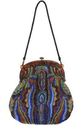 Lot 42 - A beaded evening purse, French, circa 1925