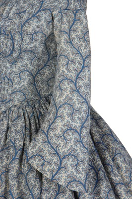 Lot 3 - A printed wool day dress, circa 1850