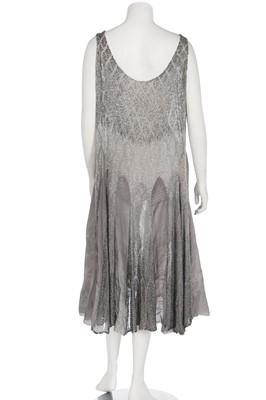 Lot 46 - A dégradé beaded muslin flapper dress, mid 1920s