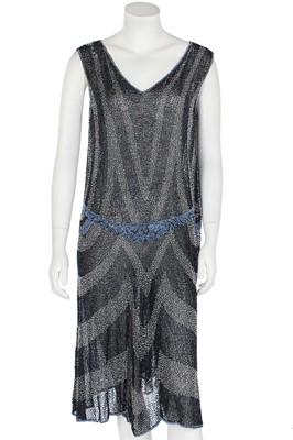 Lot 49 - A good beaded muslin flapper dress, circa 1925