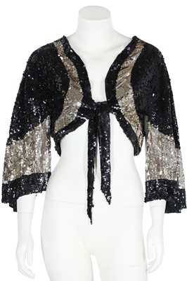 Lot 64 - Three good sequinned evening capelets, 1930s