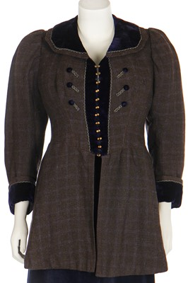 Lot 23 - A group of mainly winter daywear in neutral tones, mainly 1910s