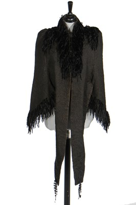 Lot 8 - A good group of black fichus, collars and capelets, 1880s-1890s