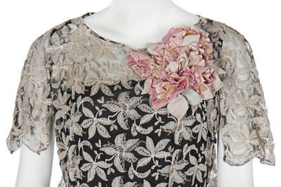 Lot 69 - Five dinner and evening gowns in mainly shades of blush pink, 1930s