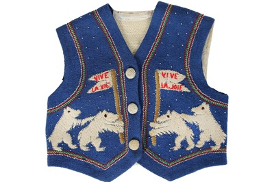 Lot 76 - A child's embroidered waistcoat, French, 1930s