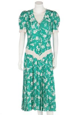 Lot 342 - A Lindka Cierach bespoke silk damask dress, worn by Sarah Ferguson, Duchess of York, 1986