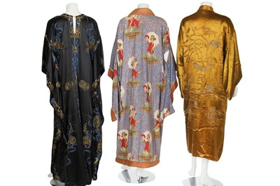 Lot 33 - A Madame Agnes Unwin of Regent St. cape, 1910s, formed from a Chinese skirt, 19th century