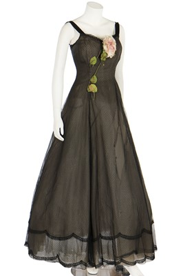 Lot 88 - A heavily-altered Christian Dior couture evening gown, Autumn-Winter 1955