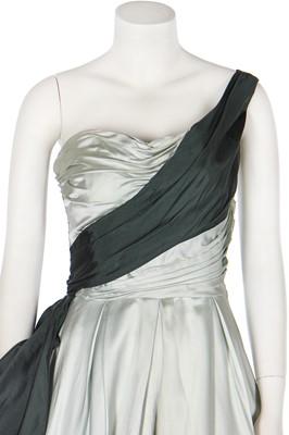Lot 85 - A Ceil Chapman satin ballgown, early 1950s