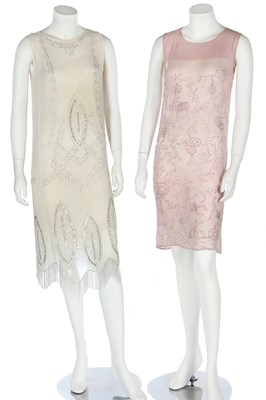 Lot 53 - Thirteen dresses, mainly for evening, 1920s-1940s