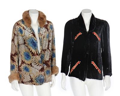 Lot 67 - Two velvet jackets, 1930s
