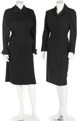 Lot 80 - Three wool suits, late 1940s-early 1950s