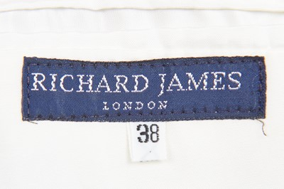 Lot 89 - A rare Richard James embroidered sky-blue silk-blend jacket, 'Cecil Beaton' collection, Spring-Summer 1990