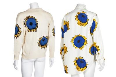 Lot 87 - A Richard James men's surrealist sunflower print silk-blend shirt, 'Cecil Beaton' collection, Spring-Summer 1990