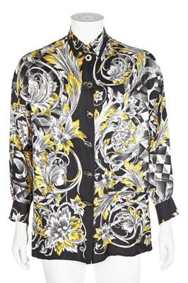 Lot 83 - A Gianni Versace men's printed silk shirt, circa 1992