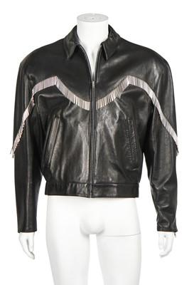 Lot 85 - A Claude Montana lambskin leather jacket, 1991