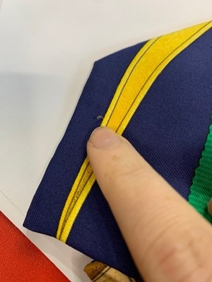 Lot 93 - Three Hermès printed silk ties, 1980s-90s