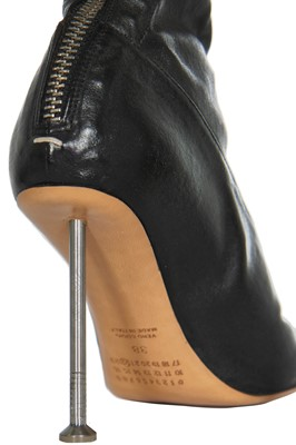 Lot 59 - A pair of Martin Margiela black leather boots, Autumn-Winter 2008-09