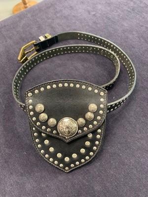Lot 40 - A Gianni Versace studded leather belt-bag, circa 1992
