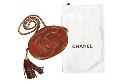 Lot 7 - A Chanel brown lambskin leather bag, 1989-1991