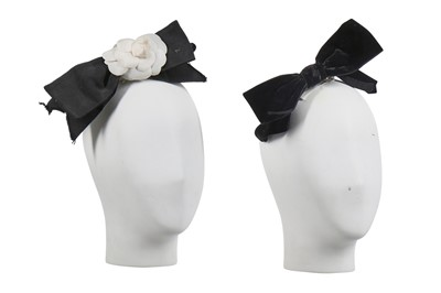 Lot 16 - Two Chanel hair-bows with barrette clasps, 1980s