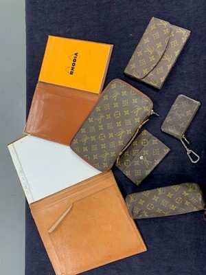 Lot 46 - A group of Louis Vuitton small, monogrammed leather accessories, 1970s-1990s