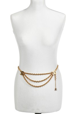 Lot 15 - Two Chanel gilt chain belts, 1984 and 1990-1991