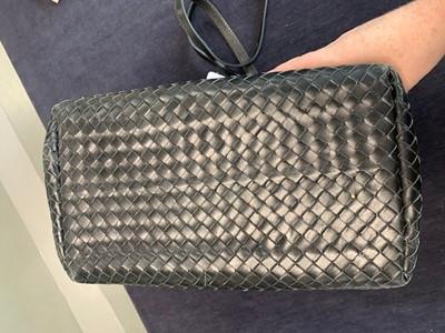 Lot 38 - A Bottega Veneta black leather handbag, 2000s