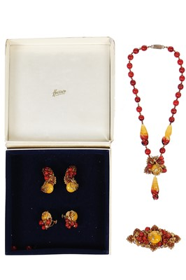 Lot 28 - A good Miriam Haskell parure, 1950s