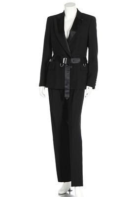 Lot 56 - A Gucci black wool 'tuxedo' suit, 2010s