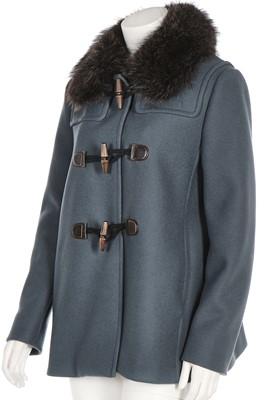 Lot 53 - A Prada slate-blue wool coat with racoon fur collar, modern