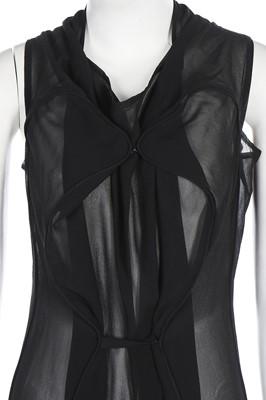 Lot 65 - A Maison Martin Margiela black chiffon dress, Autumn-Winter 2006