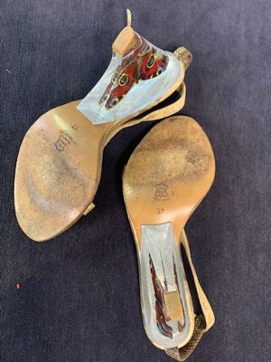 Lot 47 - A pair of Alexander McQueen shoes, 'Irere' collection, Spring-Summer 2003