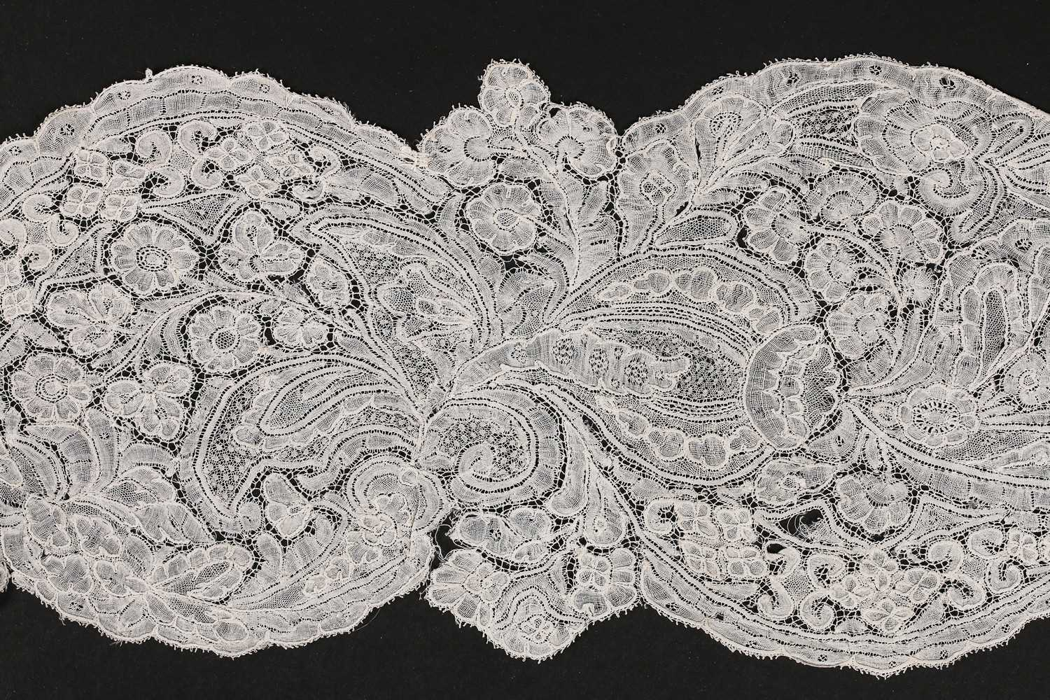 Lot 483 - A Brussels lappet, circa 1730, delicately...