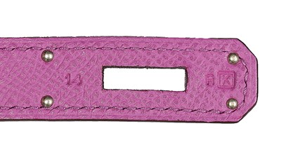 Lot 9 - An Hermès cyclamen-pink togo leather Birkin,...
