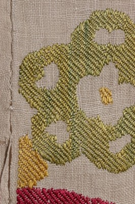 Lot 377-An Ottoman embroidered quilt facing, (Yorgan...