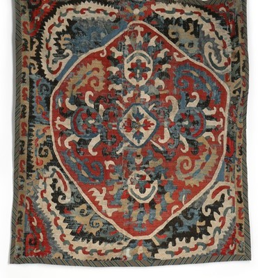 Lot 409 - An embroidered panel, Caucasian, late 18th...