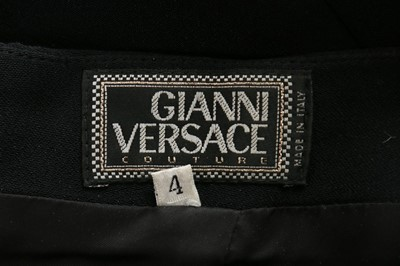 Lot 285-A fine and rare Gianni Versace black silk...